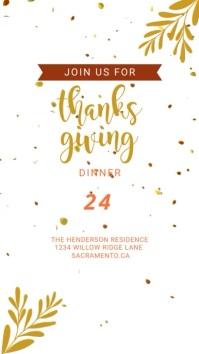 Thanksgiving Dinner Digital Invitation สถานะ WhatsApp template