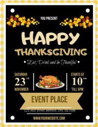 Thanksgiving Dinner Event Flyer
