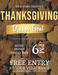 Thanksgiving Dinner Event Flyer Template