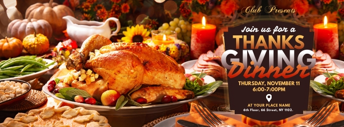 Thanksgiving Dinner Facebook Cover Facebook-coverfoto template