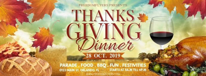 Thanksgiving Dinner Facebook Cover