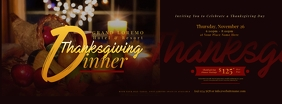 Thanksgiving Dinner Facebook Cover template