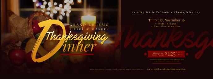 Thanksgiving Dinner Facebook Cover template