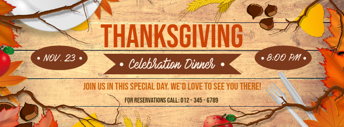 Thanksgiving Dinner Facebook Cover Photo