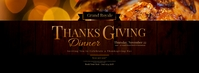 Thanksgiving Dinner Facebook Cover Photo template