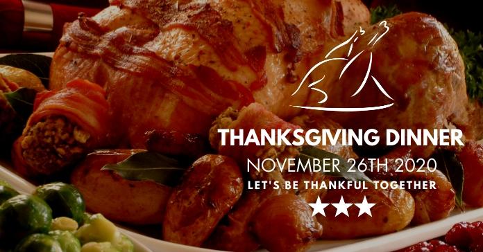 thanksgiving dinner facebook post ad template
