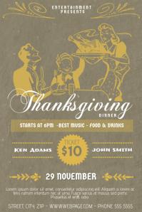 thanksgiving dinner flyer template