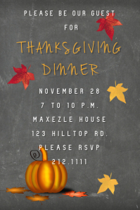 Thanksgiving Dinner Guest Invite