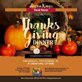 Thanksgiving Dinner Instagram Post