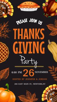 Thanksgiving dinner instagram story template
