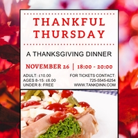 Thanksgiving Dinner Instagram Template