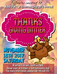 Thanksgiving Dinner Invitation 2017