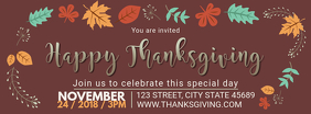 Thanksgiving Dinner Invitation Facebook Cover