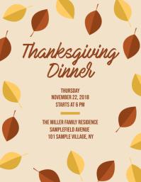 Thanksgiving Dinner Invitation Flyer
