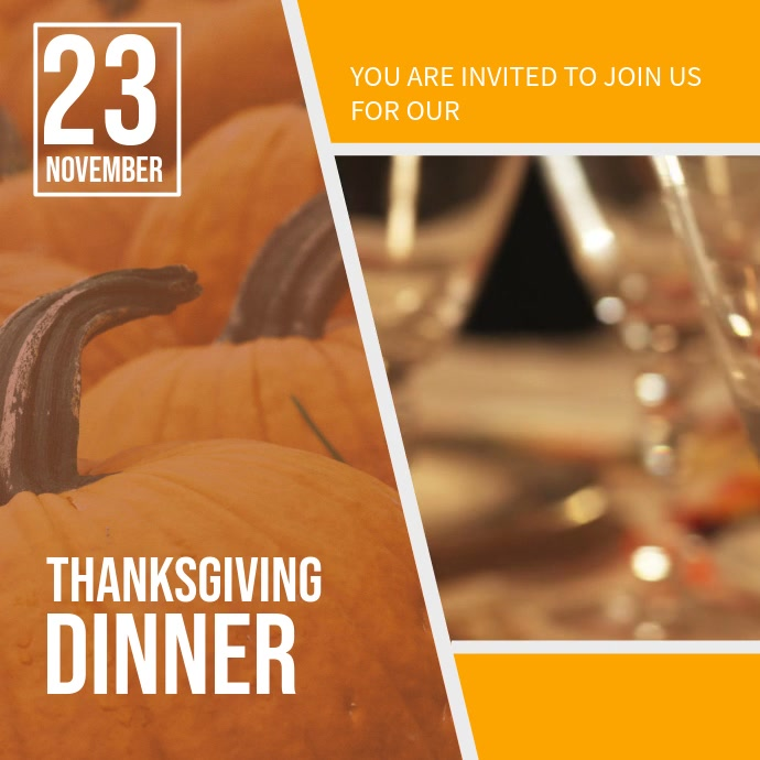 Thanksgiving Dinner Invitation Video Background Template