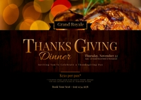 Thanksgiving Dinner Postcard Poskaart template