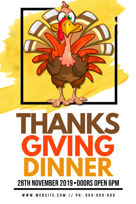 Thanksgiving Dinner Poster Affiche template