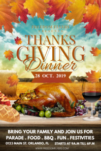 Thanksgiving Dinner Poster