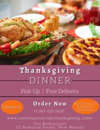 Thanksgiving Dinner Restaurant Flyer template