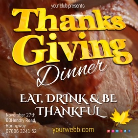 Thanksgiving Dinner Restaurant Template