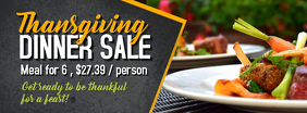 Thanksgiving Dinner Sale Facebook Cover