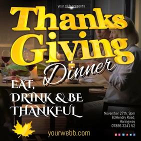 Thanksgiving Dinner Video Template