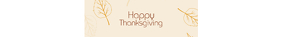 thanksgiving etsy shop banner