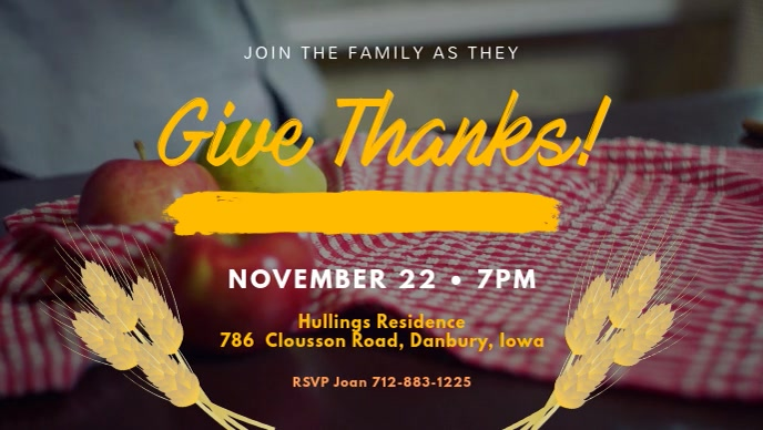 Thanksgiving Event at Residence Facebook Cover Video