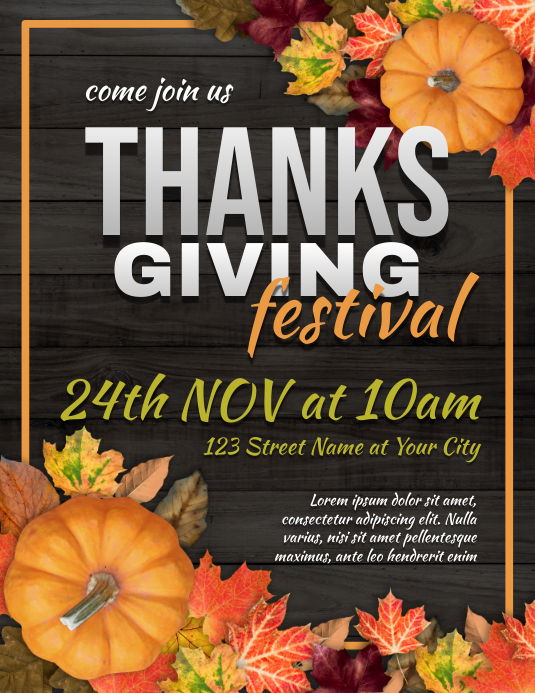 Thanksgiving Event Flyer