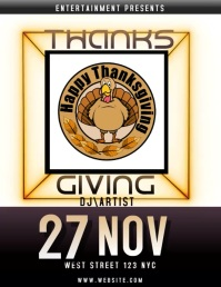 thanksgiving EVENT flyer social media video