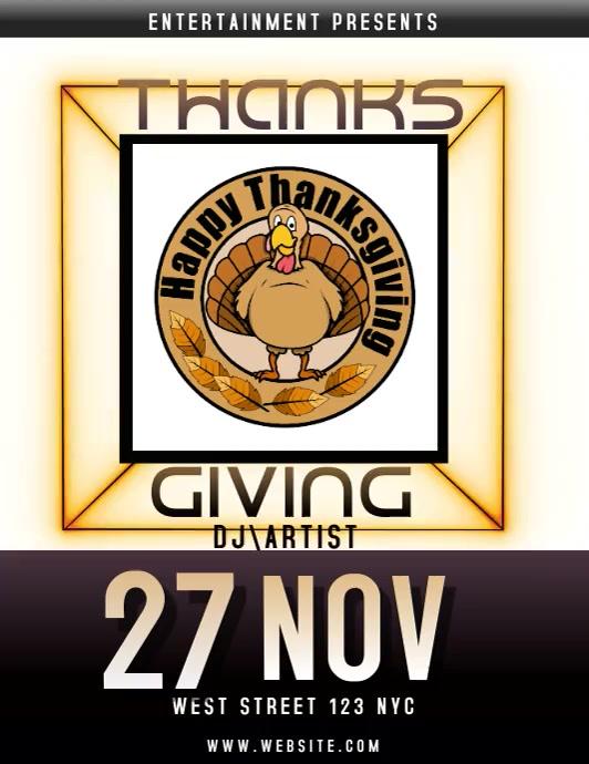 thanksgiving EVENT flyer social media video