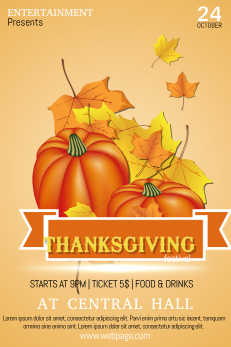 thanksgiving event flyer template postermywall. Black Bedroom Furniture Sets. Home Design Ideas