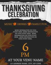 Thanksgiving Event Flyer Template