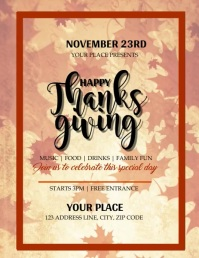 Thanksgiving Event Video Flyer Template
