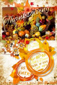 Thanksgiving Fall Autumn Cornucopia Harvest Fest Dinner Leaf
