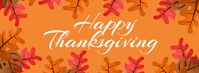 Thanksgiving Fall Leaves Facebook Banner Facebook-omslagfoto template