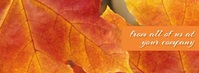Thanksgiving Fall Leaves Facebook Video template