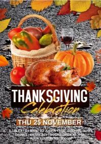 Thanksgiving fall video A4 template