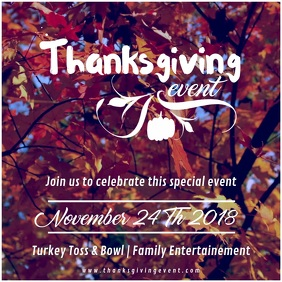 Thanksgiving Family event Video Ad Carré (1:1) template
