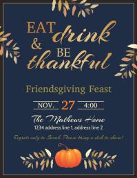 Thanksgiving feast flyer template