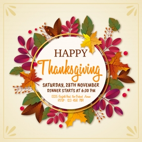 thanksgiving flyer, thanksgiving sale, turkey โพสต์บน Instagram template