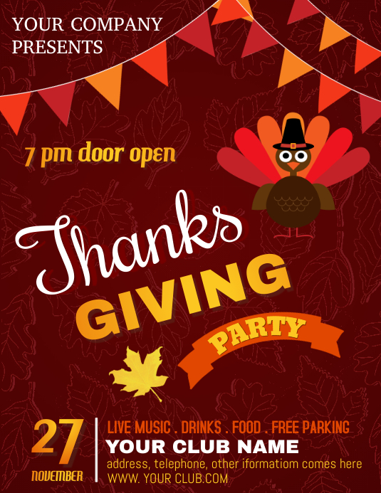 thanksgiving flyer, thanksgiving sale, turkey