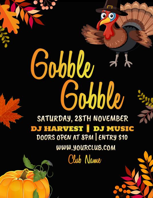 thanksgiving flyer, thanksgiving sale, turkey