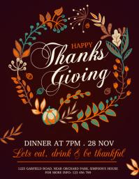 thanksgiving flyer, thanksgiving sale, turkey template