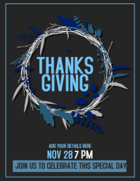 thanksgiving flyer,party flyer , event flyer