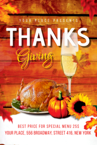Thanksgiving Flyer Banner 4' × 6' template