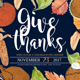 Thanksgiving Sampul Album template
