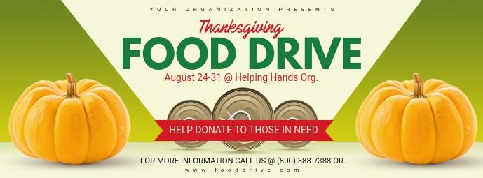 Thanksgiving Food Drive Banner Foto Sampul Facebook template