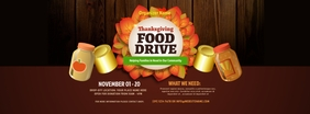 Thanksgiving Food Drive Facebook Cover Photo template