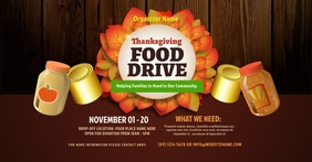 Thanksgiving Food Drive Facebook Shared Image template